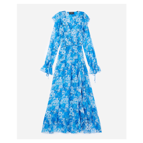 The Kooples - Kleid lang blau Blumenprint - HERREN