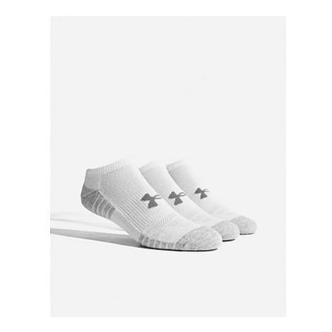Under Armour 3 Pack HeatGear Tech No Show Socken - White/Grey - Damen, White/Grey
