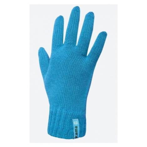 Gestrickte Merino Handschuhe Kama R101 115 türkis