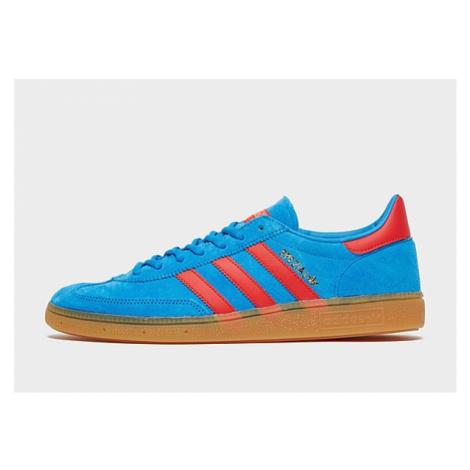 Adidas Originals Handball Spezial Schuh - Bright Blue / Vivid Red / Gold Metallic - Herren, Brig