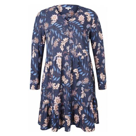 TOM TAILOR MY TRUE ME Damen Tunikakleid mit Blumenmuster, blau