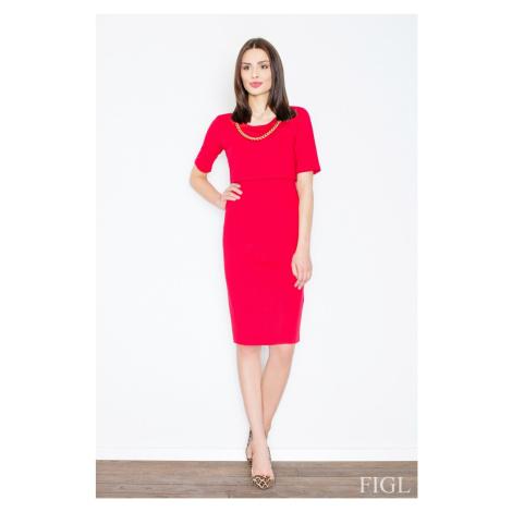 Damen Kleider M446 red Figl