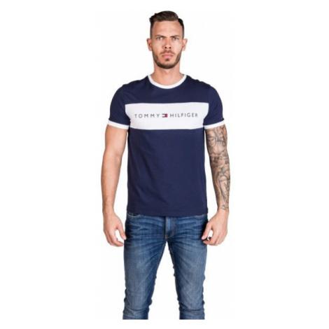 Tommy Hilfiger CN SS TEE LOGO FLAG dunkelblau - Herrenshirt