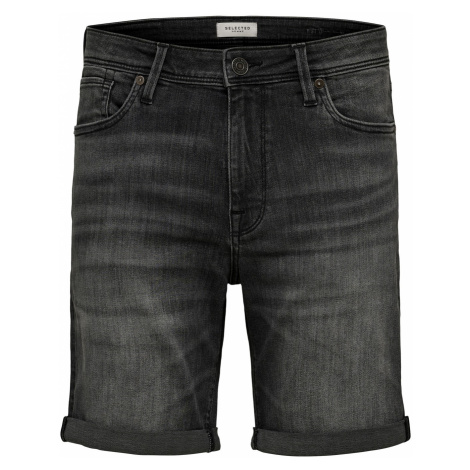 Selected Herren Jeans Shorts Slhalex 334 Grey Su-St Straight Fit