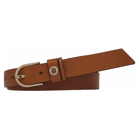 Tommy Hilfiger Gürtel Damen Classic Belt 2.5 cm breit Cognac Länge 90 cm
