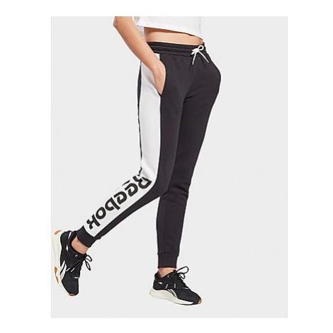 Reebok linear logo french terry pants - Black - Damen, Black