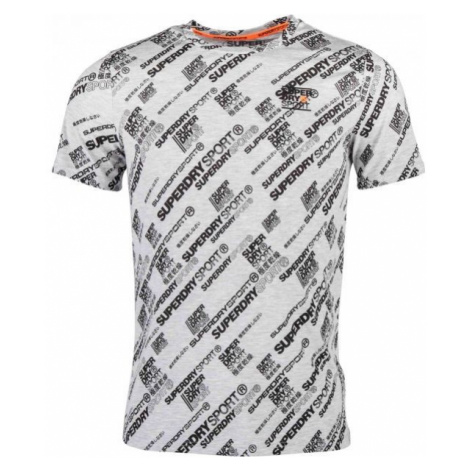 Superdry ACTIVE LOOSE AOP TEE weiß - Herrenshirt