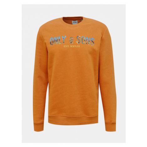 ONLY & SONS Mat Sweatshirt Orange
