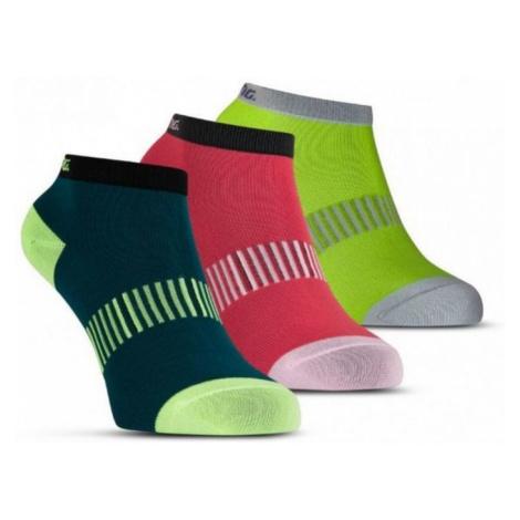 Socken Salming Performance Ankle Sock 3p Blaugrün / Gelb