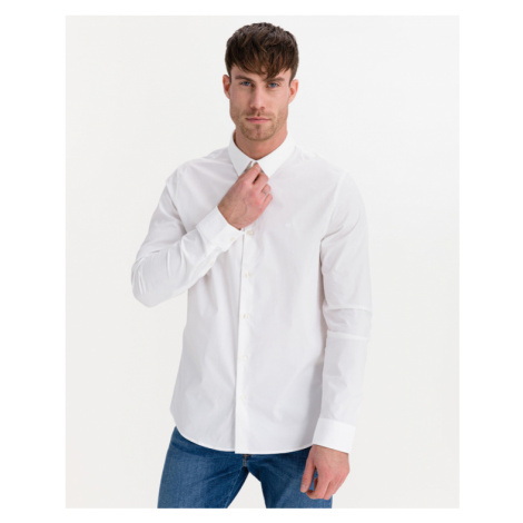 Calvin Klein Chest Logo Hemd Weiß