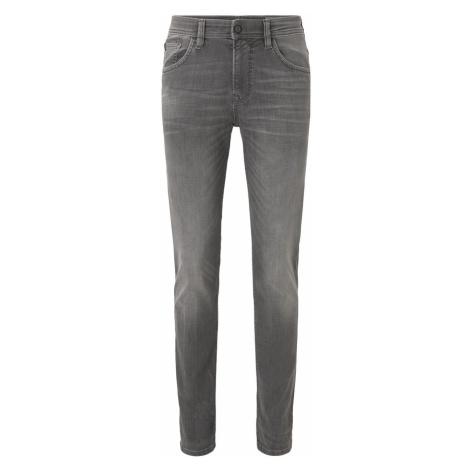 TOM TAILOR DENIM Herren Aedan Straight Stretch-Jeans, grau