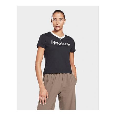 Reebok linear logo t-shirt - Black - Damen, Black