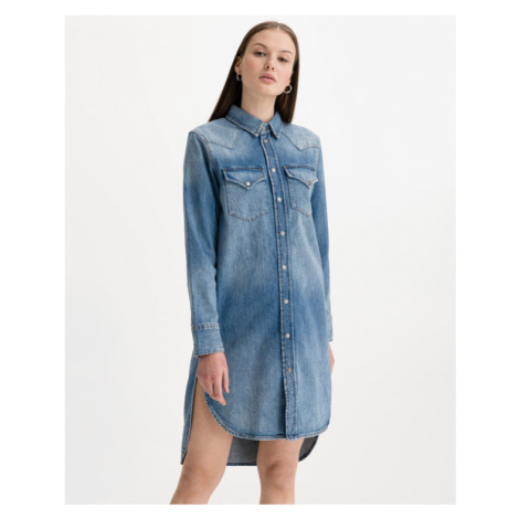 Diesel De-Blanche Kleid Blau