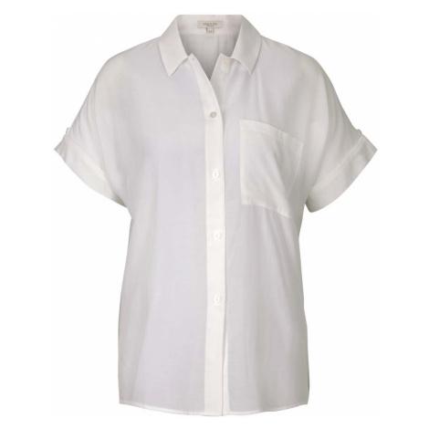 TOM TAILOR MINE TO FIVE Damen kurzärmlige Hemdbluse, weiß