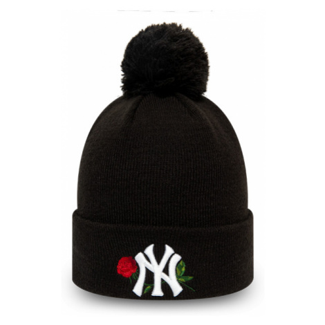 New Era MLB TWINE BOBBLE KNIT KIDS NEW YORK YANKEES schwarz - Mädchen Wintermütze