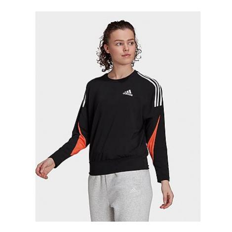 Schwarze sportsweatshirts für damen