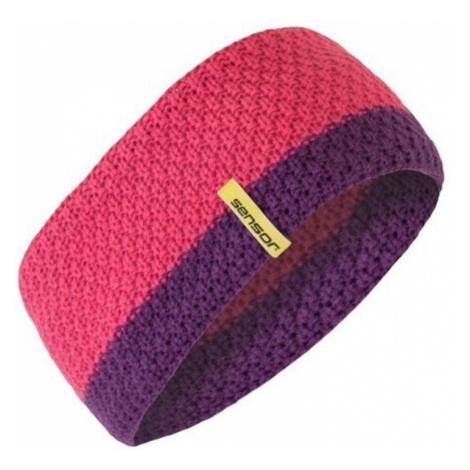 Gestrickter Stirnband Sensor pink