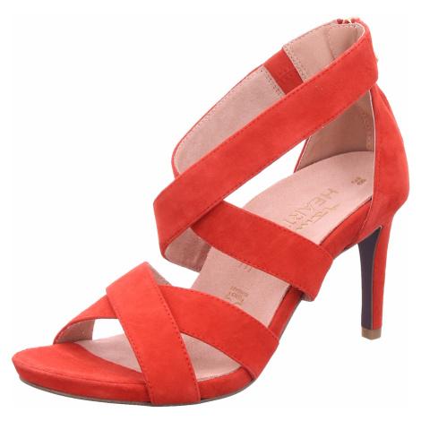 Damen Tamaris Klassische Sandalen rot