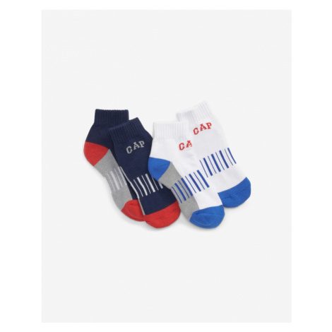GAP Kids Socks 2 pairs Blau Weiß