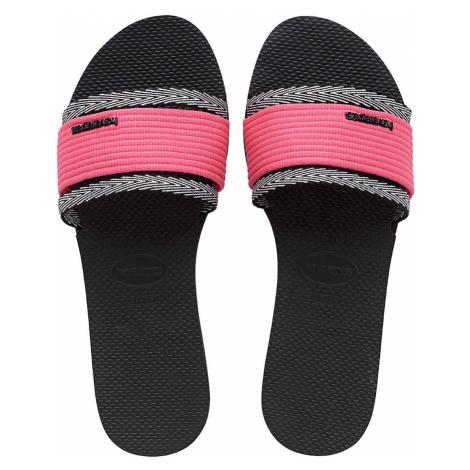 Havaianas Damen Bade-Sandalen YOU TRANCOSO FC 4145824 0090 Pink Schwarz