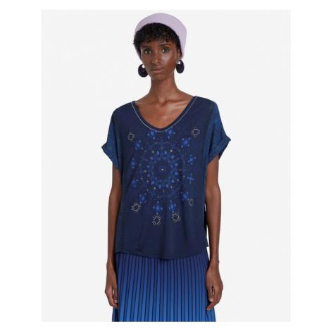 Desigual Detroit T-Shirt Blau mehrfarben