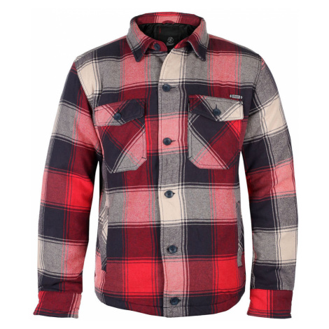 Herren Jacke BRANDIT - Lumberjacket - 9478-red+anthra+beige checked 5XL