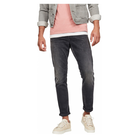 G-Star Herren Jeans 3301 Tapered Fit - Grau - Faded Charcoal G-Star Raw