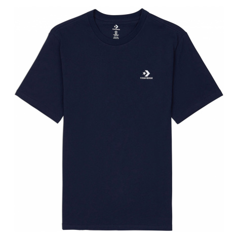 Converse T-Shirt Herren EMBROIDERED STAR CHEVRON LEFT CHEST TEE OBSIDIAN 10020224 467 Dunkelblau