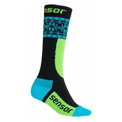 Kinder Socken Sensor THERMOSNOW NORWEGEN schwarz/blau 18200064