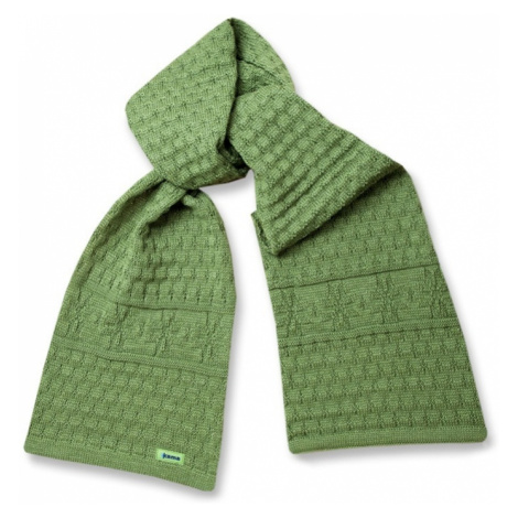 Gestrickter Schal Kama S13 105 green