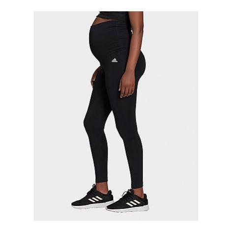 Adidas Essentials Cotton Tight - Umstandsmode - Black / White - Damen, Black / White