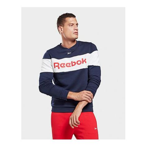 Reebok training essentials linear logo crew sweatshirt - Vector Navy - Herren, Vector Navy
