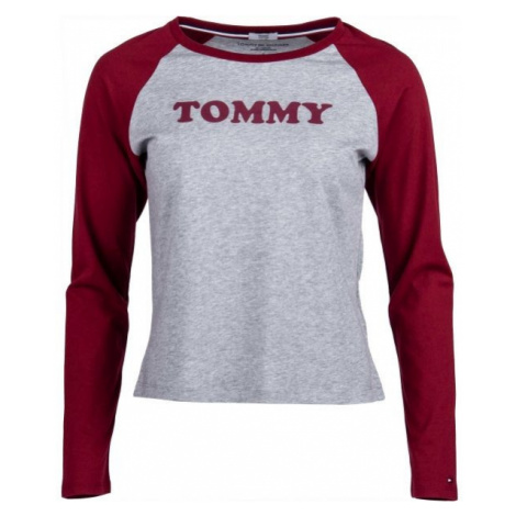 Tommy Hilfiger LS TEE SLOGAN grau - Langärmliges Damen Shirt
