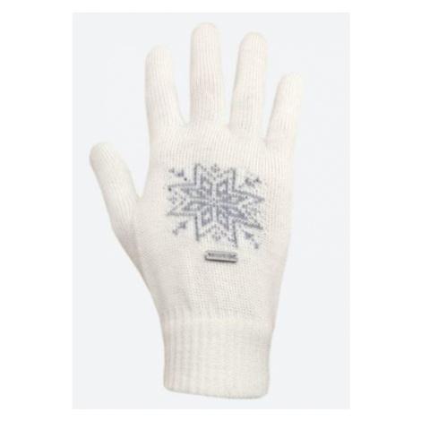 Gestrickte Merino Handschuhe Kama R104 101 natural white