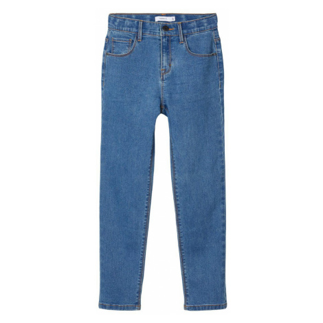 NAME IT High Waist Mom Fit Jeans Damen Blau