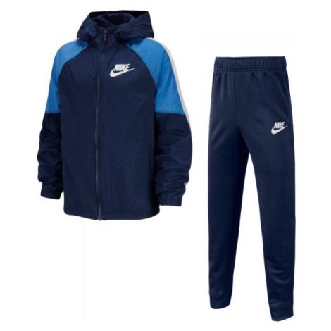Nike NSW WOVEN TRACK SUIT B dunkelblau - Jungen Trainingsanzug