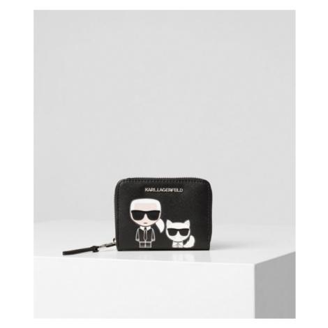 K/Ikonik Kleine Geldbörse mit Rundum-Zipper Karl Lagerfeld