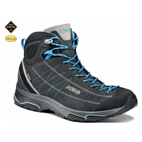 Schuhe ASOLO Nukleon Mid GV Graphit / Silber / Cyan blue A772