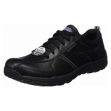 Herren Skechers Freizeit Schnürer schwarz Worker Shoes