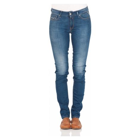 Replay Damen Jeans New Luz - Skinny Fit - Blau - Mid Blue