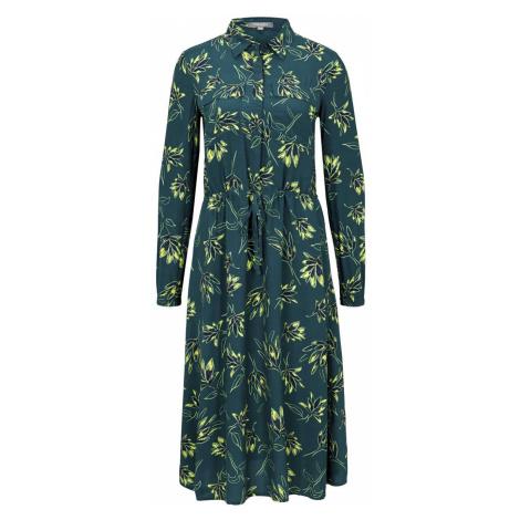 TOM TAILOR MINE TO FIVE Damen Gemustertes Midi-Blusenkleid, grün