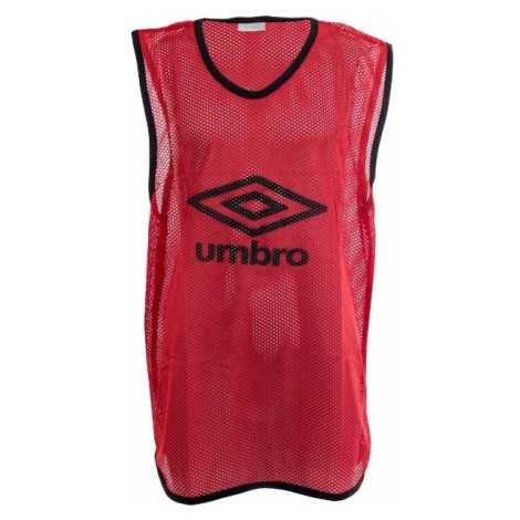 Umbro MESH TRAINING BIB - 65 X 52CM - Junior rot - Kinder Trainingsleibchen