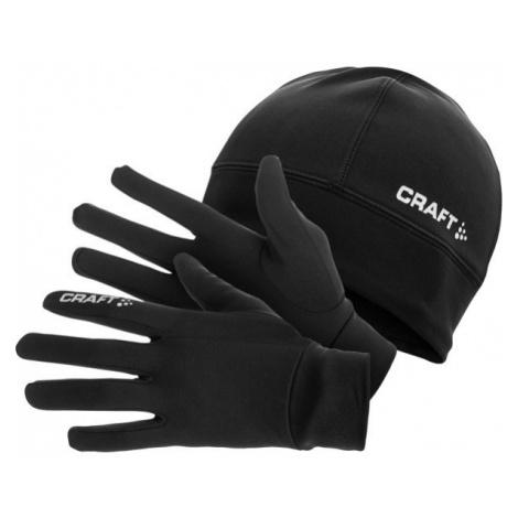 Craft RUNNING WINTER GIFT PACK schwarz - Mütze und Handschuhe