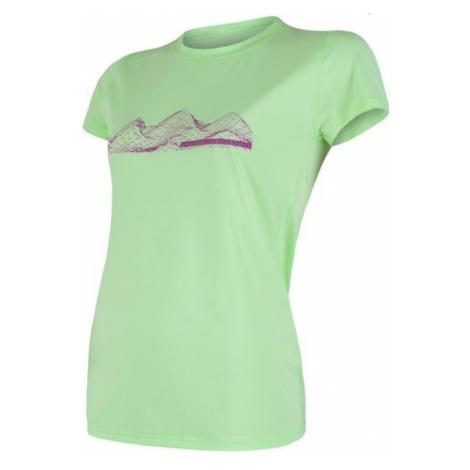 Damen T-Shirt Sensor Coolmax Fresh PT Gebirge Kurzarm hellgrün 18100031