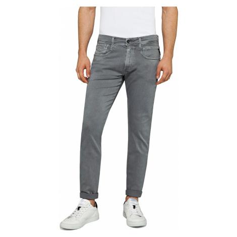 Replay Herren Jeans Anbass - Slim Fit - Grau - Iron