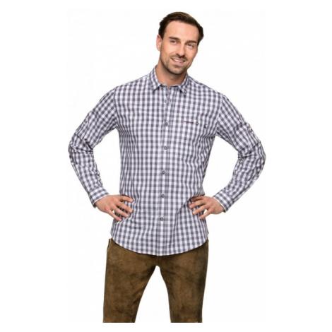 Trachtenhemd Wanderhemd MITCHEL karo grau