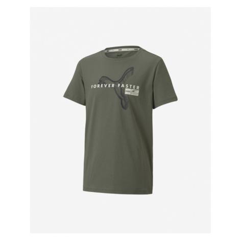 Puma Kinder  T‑Shirt Grün