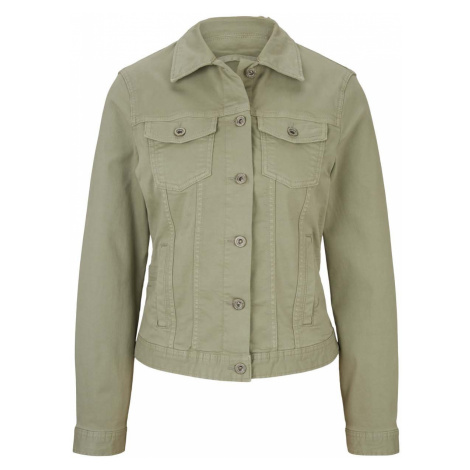 TOM TAILOR Damen Gefärbte Jeansjacke mit Bio-Baumwolle , grün