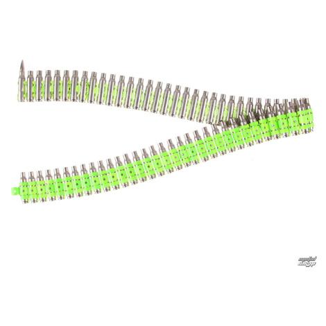 Gürtel Silber & Fluoreszierend - Green Metal Bullet - B714
