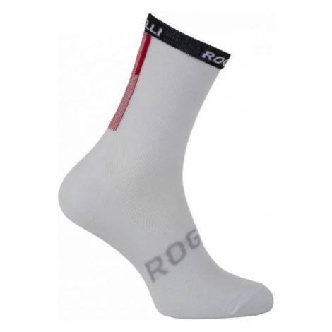 Antibakteriell funktionell Socken mit leichten kompression Rogelli TEAM 2.0, white 007.900